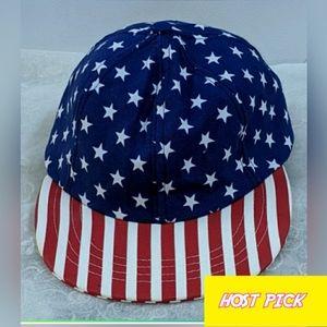 AMERICAN APPAREL FOURTH OF JULY AMERICAN FLAG CAP